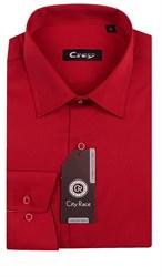 Приталенная красная рубашка CITY RACE 1122-106