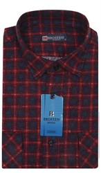 Мужская фланелевая рубашка BROSTEM F100