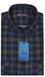 Мужская фланелевая рубашка BROSTEM F102