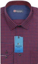 Мужская рубашка хлопок 100 % Brostem BR7 приталенная