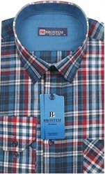 Мужская рубашка лен и хлопок приталенная Brostem LN130