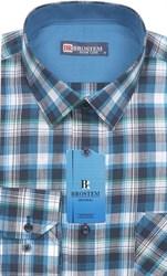 Мужская рубашка лен и хлопок приталенная Brostem LN140