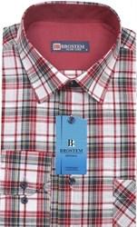 Мужская рубашка лен и хлопок приталенная Brostem LN142