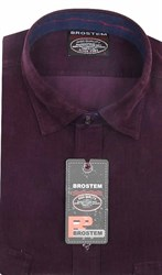 Вельветовая мужская рубашка приталенная хлопок 100 % Brostem V21 Z