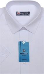 Белая полуприталенная рубашка 4701As Brostem