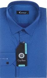 Мужская рубашка City Race BROSTEM приталенная  CR118-54 Z-pr