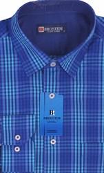 Мужская рубашка BROSTEM приталенная хлопок 100 %  K6-263-pp