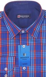 Мужская рубашка BROSTEM приталенная хлопок 100 %  K6-271-pp
