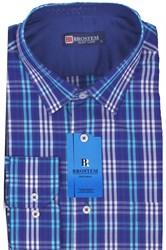 Мужская рубашка полуприталенная BROSTEM K6-268-pp-Bros
