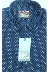 Вельветовая мужская рубашка хлопок полуприталенная Brostem  VT1
