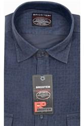 Вельветовая мужская рубашка хлопок полуприталенная Brostem  VT11