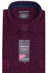 Вельветовая мужская рубашка хлопок полуприталенная Brostem  VT15