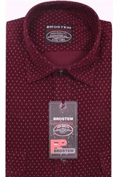 Вельветовая мужская рубашка хлопок полуприталенная Brostem  VT2