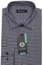 Приталенная рубашка с кашемиром City Race KAC2459