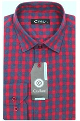 Приталенная мужская рубашка кашемир Brostem City Race KAC2461E-pr-Brostem