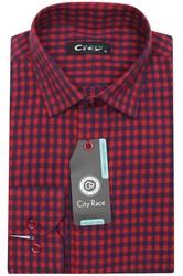 Приталенная мужская рубашка кашемир Brostem City Race KAC15028G-pr-Brostem