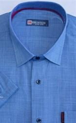 Мужская рубашка с коротким рукавом полуприталенная 8SB23-3s-pp