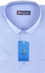 Мужская рубашка с коротким рукавом полуприталенная 8SB-2s-pp