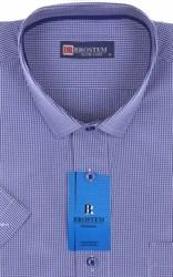 Мужская рубашка с коротким рукавом полуприталенная 8SB-3s-pp