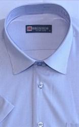 Мужская рубашка с коротким рукавом полуприталенная 8SB10-1s-pp