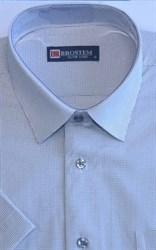 Мужская рубашка с коротким рукавом полуприталенная 8SB10-3s-pp