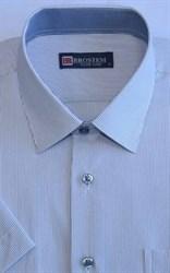 Мужская рубашка с коротким рукавом полуприталенная 8SB11-3s-pp
