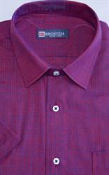 Мужская рубашка с коротким рукавом полуприталенная 8SB24-2s-pp