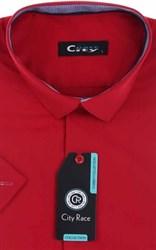 Мужская рубашка с коротким рукавом приталенная, CITY RACE 8SC06-3s-p