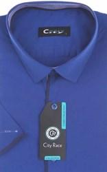 Мужская рубашка с коротким рукавом приталенная, CITY RACE 8SC07-4s-p