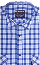 Хлопковая мужская рубашка в клетку классического силуэта SH841 BROSTEM