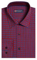 Приталенная лен с хлопком мужская рубашка BROSTEM 8LBR9-6-pp