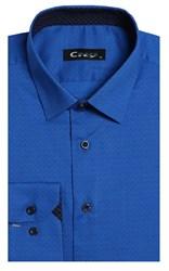 Приталенная хлопок стреч мужская рубашка 8LCR24-4-pp CITY RACE BROSTEM