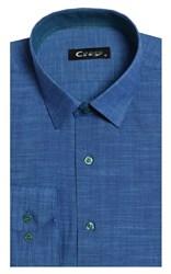 Полуприталенная лен с хлопком мужская рубашка 8LCR8-5-pp CITY RACE BROSTEM