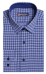 Полуприталенная лен с хлопком мужская рубашка BROSTEM 8LBR9-2-pp