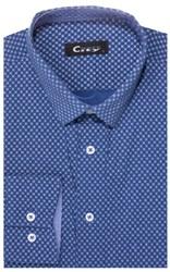 Приталенная хлопок стреч мужская рубашка 8LCR28-4-pp CITY RACE BROSTEM