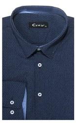 Приталенная хлопок стреч мужская рубашка 8LCR28-6-pp CITY RACE BROSTEM