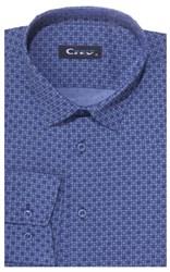 Приталенная хлопок стреч мужская рубашка 8LCR30-5-pp CITY RACE BROSTEM