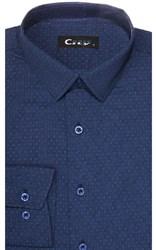 Приталенная хлопок стреч мужская рубашка 8LCR30-7-pp CITY RACE BROSTEM