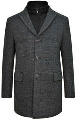 Серое пальто на утеплителе ЛЕЙСЕН SF