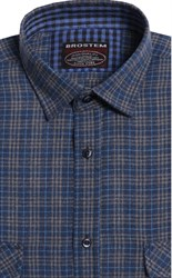 Мужская фланелевая рубашка BROSTEM 8LBR49+4