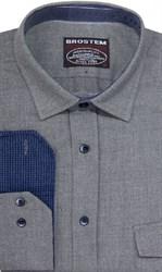 Фланелевая приталенная рубашка шерсть/хлопок Brostem 8LBR20+1