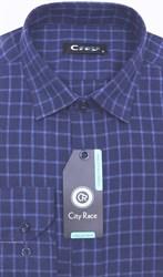 Приталенная кашемир рубашка City Race KAC15019D