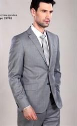 Светло серый костюм с меланжем