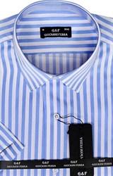 Полуприталенная рубашка к/р KAR-16028-4
