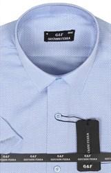 Полуприталенная рубашка к/р KAR-16080-3