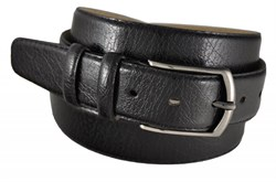 Недорогой черный кожаный ремень