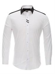 Приталенная белая рубашка Bawer RZ1113008-03