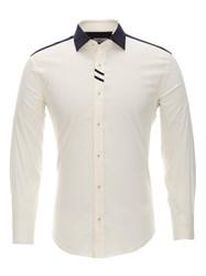 Приталенная бежевая рубашка Bawer RZ1113008-04
