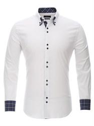 Приталенная белая рубашка Bawer RZ1111004-04