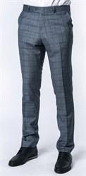 Серые брюки в клетку мужские